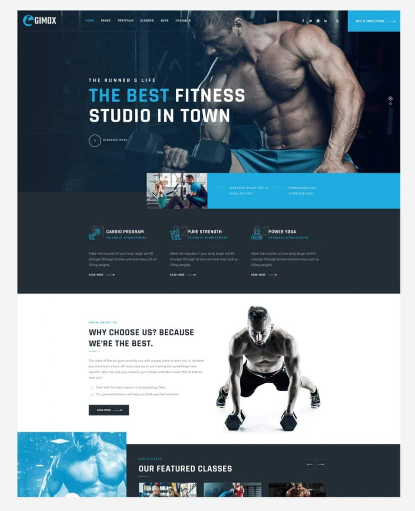 Gym/Fitness Web Design & Development