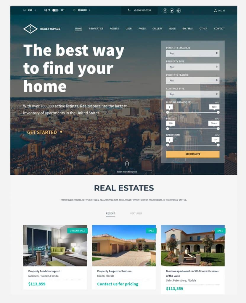 Real Estate Web Design Services