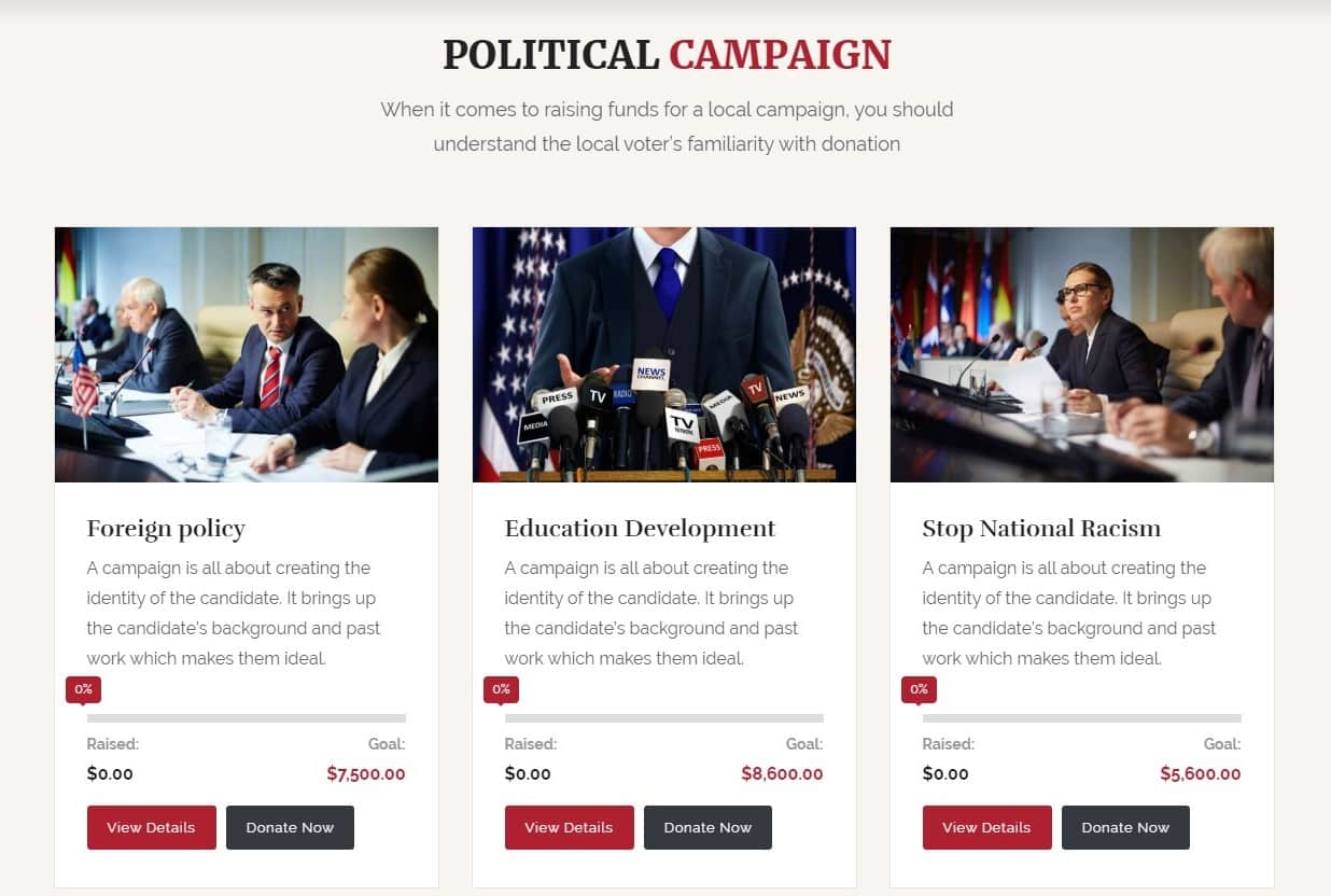 Web Design for Candidates