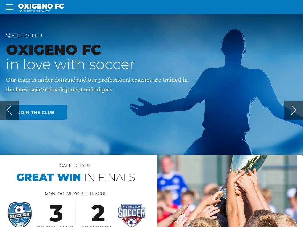 Soccer Sport Web Design Services