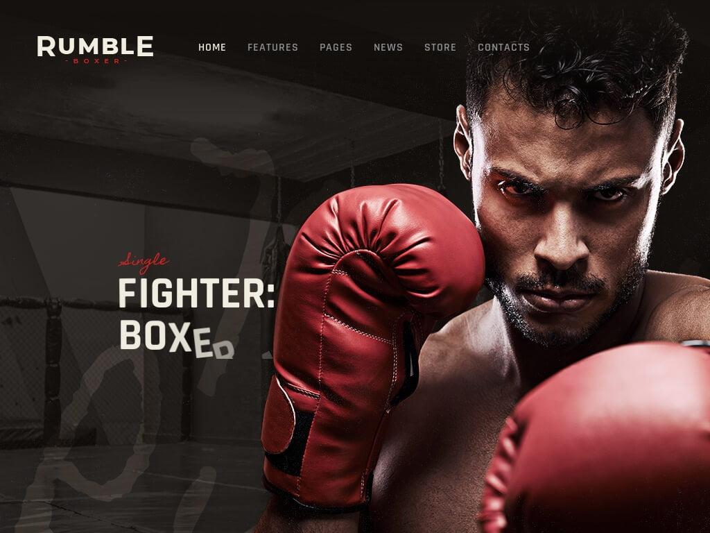 Boxing Sport Website Design Services