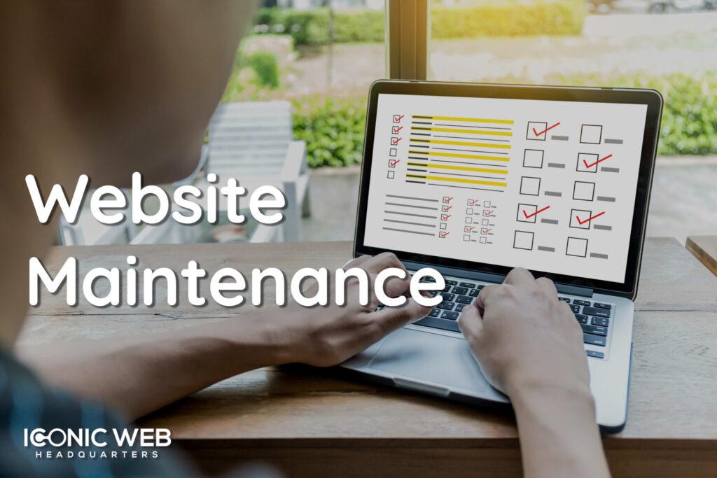 technician performing website maintenance